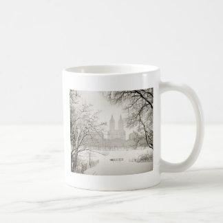 Central Park - nieve hermosa del invierno Taza