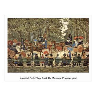 Central Park Nueva York de Maurice Prendergast Tarjetas Postales