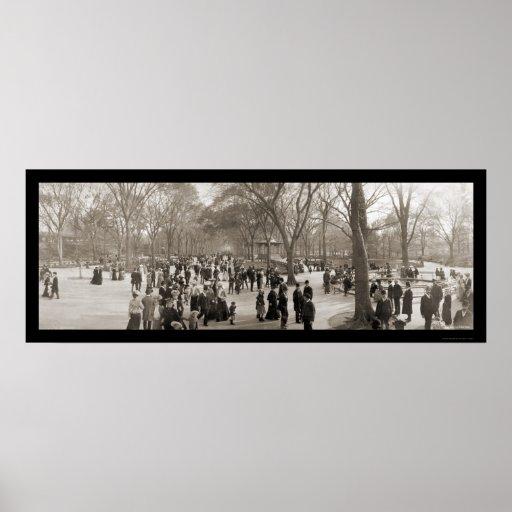 Central Park NY Photo 1902 Print