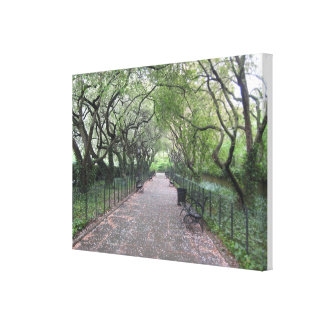 Central Park NYC Conservatory Garden Photo Canvas