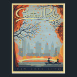 "Central Park, NYC - Fall Postcard<br><div class=""desc"">Anderson Design Group is an award-winning illustration and design firm in Nashville,  Tennessee. Founder Joel Anderson directs a team of talented artists to create original poster art that looks like classic vintage advertising prints from the 1920s to the 1960s.</div>"