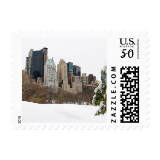 Central Park, NYC in Winter - Postage Stamp