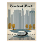 Central Park, NYC - nieve Tarjetas Postales
