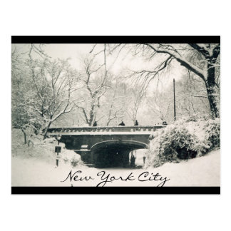 central park nyc post card