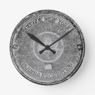 Central Park NYC Round Clock