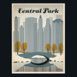 "Central Park, NYC - Snow Postcard<br><div class=""desc"">Anderson Design Group is an award-winning illustration and design firm in Nashville,  Tennessee. Founder Joel Anderson directs a team of talented artists to create original poster art that looks like classic vintage advertising prints from the 1920s to the 1960s.</div>"