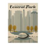 Central Park, NYC - Snow Wood Wall Decor