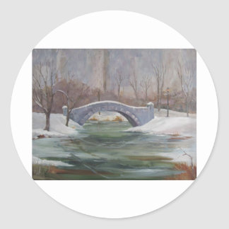 Central Park  NYC Round Stickers