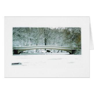 Central Park NYC tarjeta de Navidad del puente d