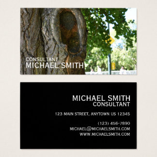 Central Park NYC Tree Trunk Nature Photography Business Card