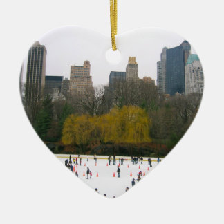 Central Park NYC Wollman Rink Christmas Ornaments