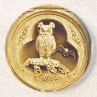 Central Park Owl of Wisdom Sandstone Coaster