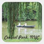Central Park Pegatina Cuadradas Personalizada