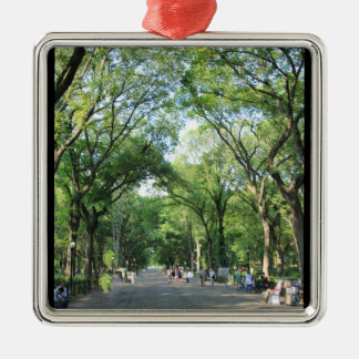 Central Park Poet s Walk in the Summer Christmas Ornament