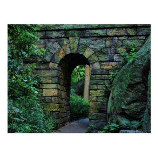 Central Park: Ramble Stone Arch Postcard
