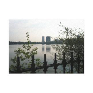 Central Park Reservoir Photo Canvas