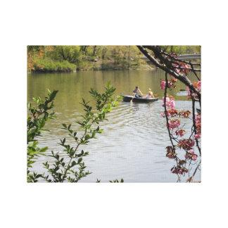 Central Park Row Boat Canvas