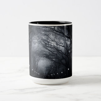 Central Park Row of Trees Two-Tone Coffee Mug