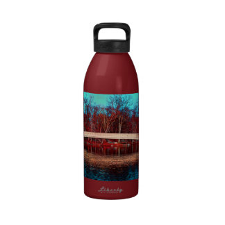 Central Park Rowboat Bridge NYC Water Bottle