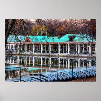 Central Park Rowboat Restaurant Boathouse Poster