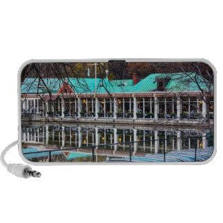 Central Park Rowboat Restaurant Boathouse Laptop Speakers