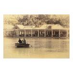 Central Park Rowboat Restaurant Boathouse Wood Print