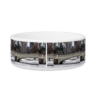 Central Park's Bow Bridge Photo Pet Bowls