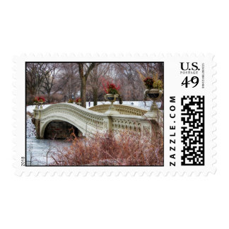 Central Park's Bow Bridge Photo Stamp