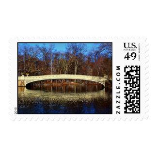 Central Park's Bow Bridge Photo Postage Stamps