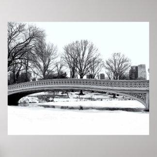 Central Park's Bow Bridge Photo Posters