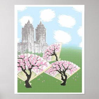 Central Park Sakura Poster