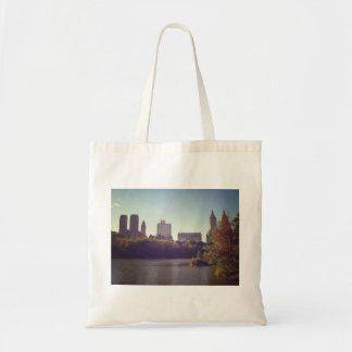 Central Park Skyline, Late Summer, New York City Canvas Bags