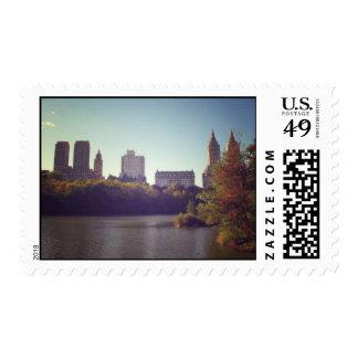 Central Park Skyline, Late Summer, New York City Postage