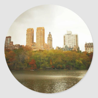 Central Park Skyline, New York City Classic Round Sticker