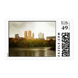 Central Park Skyline, New York City Postage