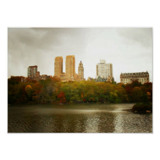 Central Park Skyline, New York City, Small Poster
