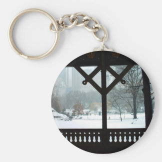 Central Park Snow Day Keychain