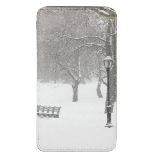 Central Park Snow Storm Galaxy S5 Pouch