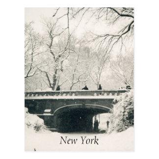 central park snow white postcard