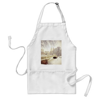 Central Park Snow - Winter New York Adult Apron