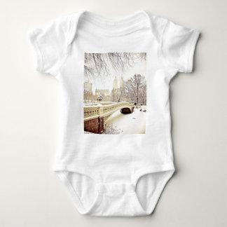 Central Park Snow - Winter New York Baby Bodysuit