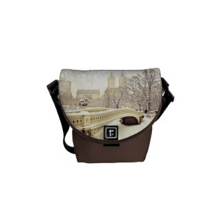 Central Park Snow - Winter New York Courier Bag