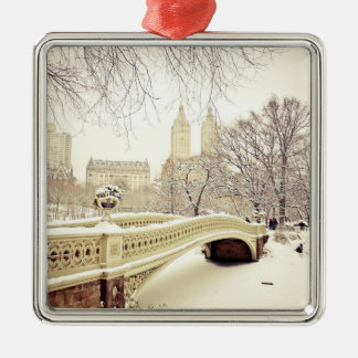 Central Park Snow - Winter New York Ornaments