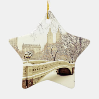 Central Park Snow - Winter New York Christmas Tree Ornaments