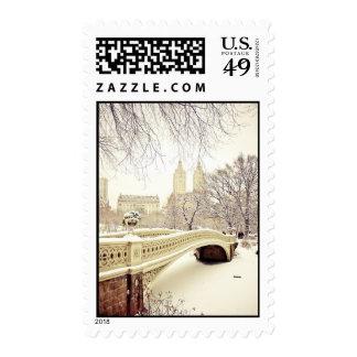 Central Park Snow - Winter New York Postage