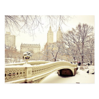Central Park Snow - Winter New York Postcard