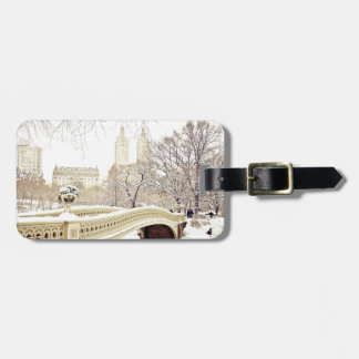 Central Park Snow - Winter New York Travel Bag Tag