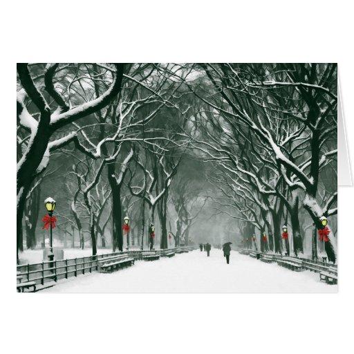 Central Park Snowy Path Card