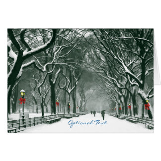 Central Park Snowy Path Custom Card