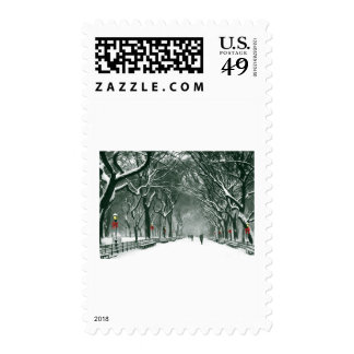 Central Park Snowy Path Stamp